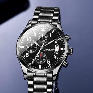 Image 2 - Sinobiクロノグラフメンズ腕時計防水のトップの高級ブランドステンレス鋼男性クォーツ時計レロジオmasculinoドロップシッピング