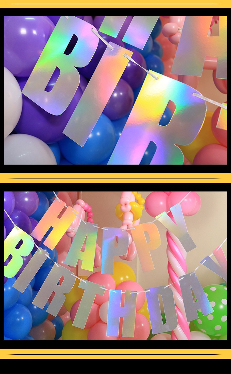 Paper Happy Birthday Banner Party Decorations Kids Garland Children Baby Boy Girl Child Bunting Adult Birthday Supplies in Party DIY Decorations from Home Garden
