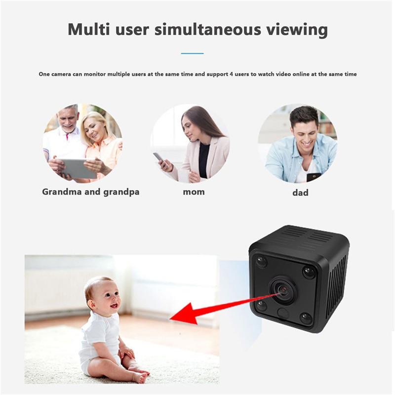 No Plug-in Small Night Vision Wireless Camera, WIFI Mobile Phone Remote HD Video Recorder Baby Monitor, Security Smart Camera