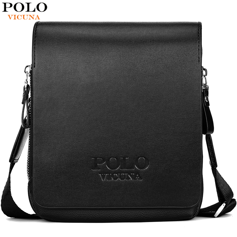 VICUNA POLO High Capacity Casual Leather Small Messenger Bags For Men With Card Pocket Brand Mens Side Crossbody Shoulder Bag