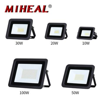 LED Floodlight 10W 20W 30W 50W 100W Flood Light 110V/220V Outdoor Spotlight Floodlights IP68 Waterproof Garden Lighting