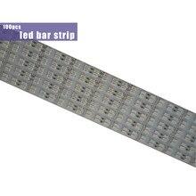 Bande lumineuse rigide 12V, 100 pièces, 1m, 100cm, 5050, 5630, 5730, 7020, 8520, lumière rvb blanc chaud-froid, rouge, bleu, vert, sous-meuble de cuisine