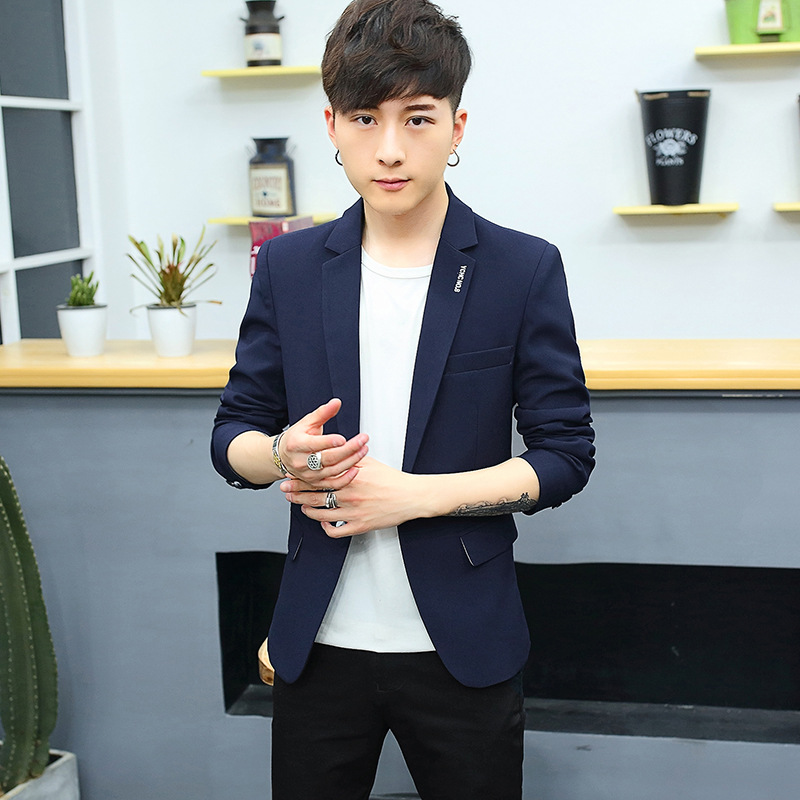 2019 Spring And Autumn Fashion England Small Suit Men Korean-style Slim Fit Youth Casual Suit Coat Men's