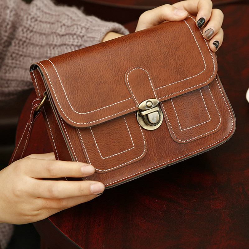 2019 New Korean Version The Small Square Women Bag Fashion Handbags Retro Shoulder Bag Messenger Bag Mobile Phone Bag