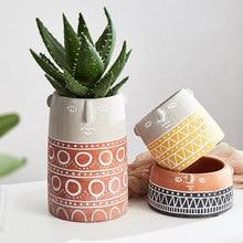 Human face art flowerpot home decor garden accessories decoration outdoor plant pot cactus flower pot succulents vase