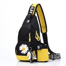 2020 Unisex Women Fashion Chest Bag Female Cartoon Shoulder Bag Travel Sports Crossbody Bag Ladies Floral Waist Pack Bag