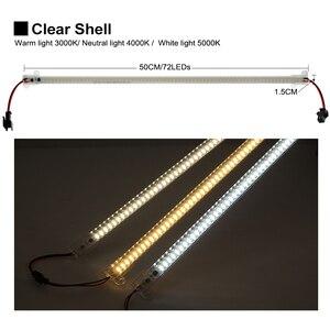 Image 5 - LED Bar Light 220V 110V High Brightness 8W 50cm 72LEDs 2835 LED Rigid Strip Energy Saving LED Fluorescent Tubes 5pcs/lot.