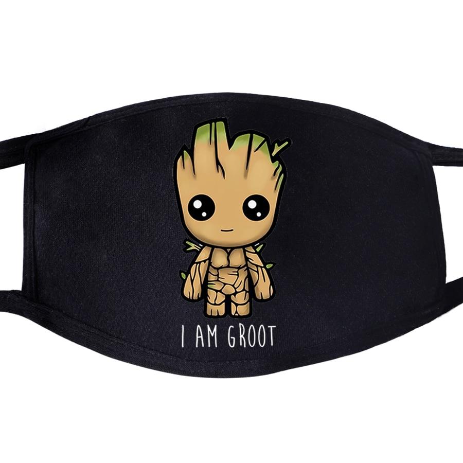 The Avengers Superhero I Am Groot Baby Pattern Face Mask Mouth Cute Lovely 1pcs Dustproof Unisex Anti Dust  Masks