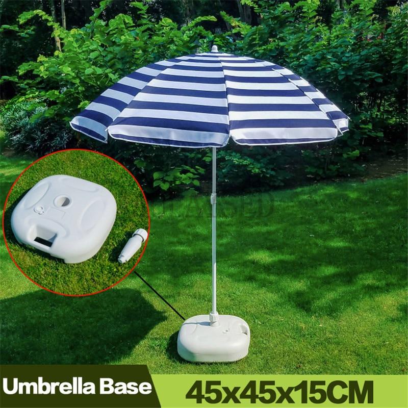 AULAYSED Outdoor Parasol Garden Umbrella Base Stand  Patio Beach Garden Patio Umbrella Sun Shelter Portable Durable Accessory