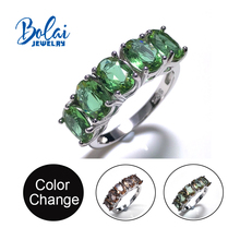 Bolaijewelry,Zultanite rings 925 sterling sliver created color change gemstone fine jewelry for women daily wear nice gift 2014 nice sliver baja