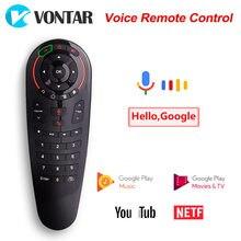 VONTAR G30S z pilotem Air Mouse bezprzewodowa Mini klawiatura z IR Learning dla TV Box z androidem PC