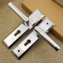 STAINLESS STEEL INDOOR WOOD DOOR  BEDROOM DOOR LOCK HANDLE FREE SHIPPING