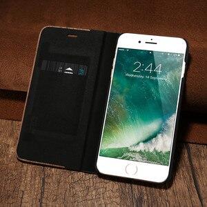 Image 3 - Caisse en Bois de bambou Pour iPhone 12 11 Pro 11 12 Mini Étui En Cuir PU Pour iPhone XR X XS Max 7 8 Plus En Bois Housse Sac