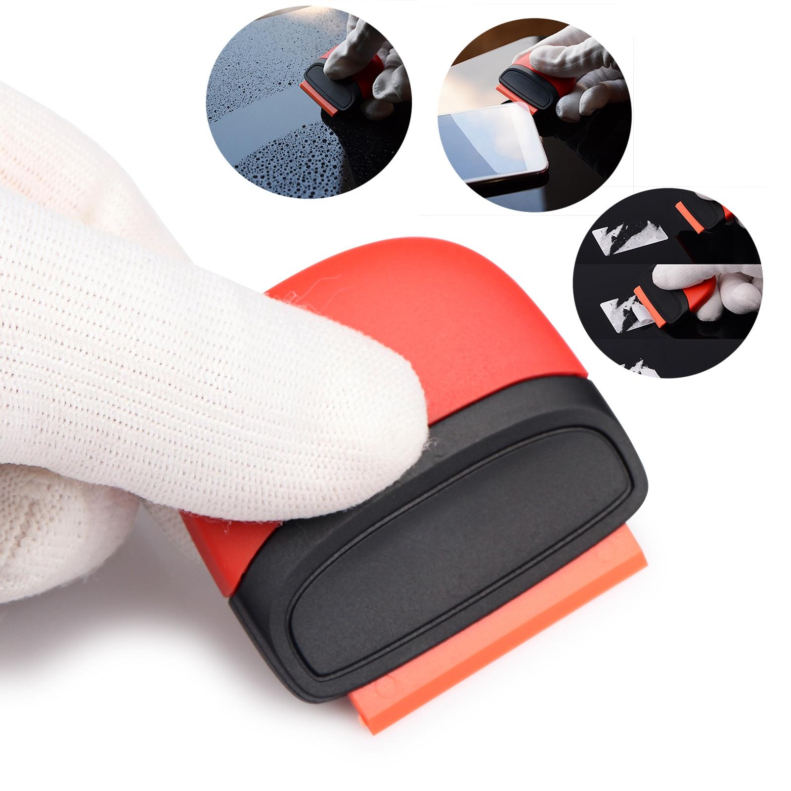 FOSHIO Car Tools Razor Scraper Carbon Fiber Vinyl Sticker Remover Wrap Squeegee Scraper Auto Wrapping Foil Film Car Accessories