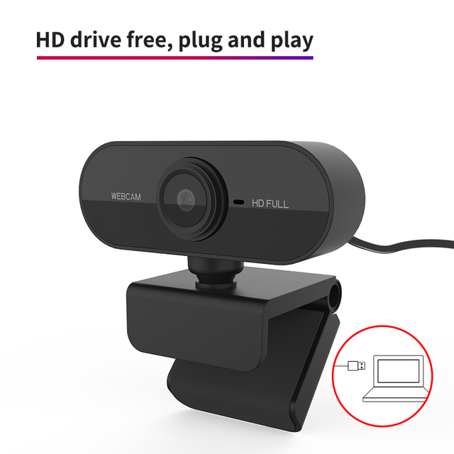 HD 1080P Webcam Mini Computer PC WebCamera with Microphone Rotatable Cameras for Live Broadcast Video Calling Conference Work 4