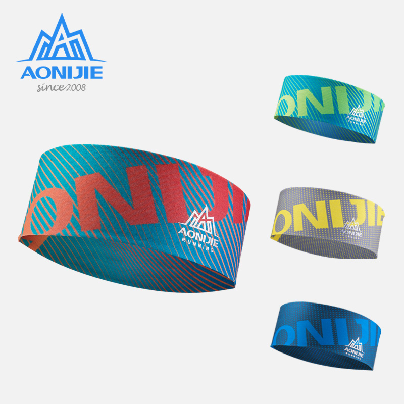 AONIJIE E4901 Wide Sports Headband Sweatband Hair Band Tie For Both Women And Men Workout Yoga Gym Fitness Running Cycling