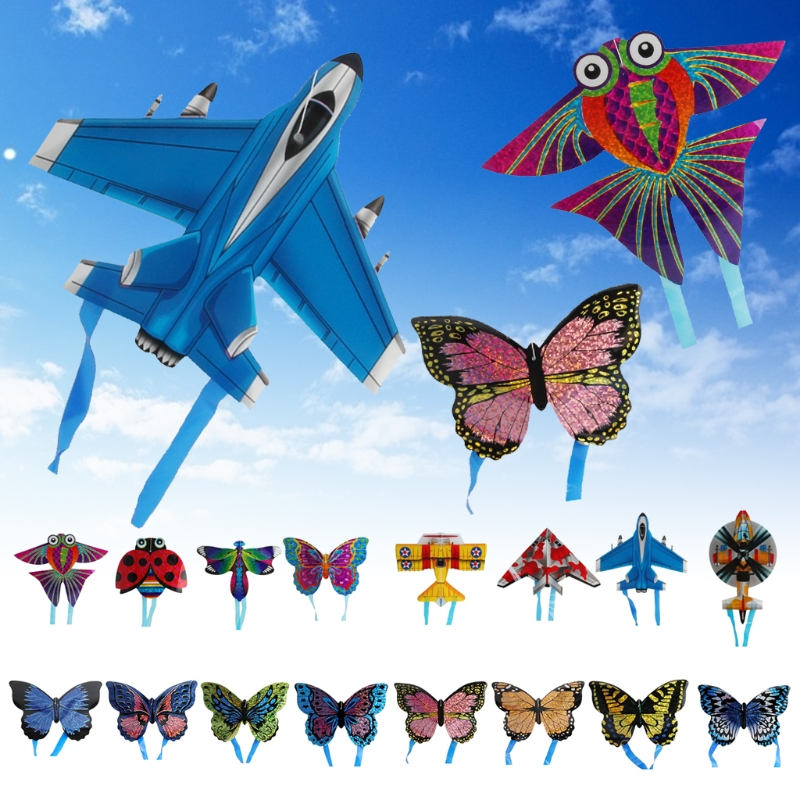 Cartoon Insect Aircraft Mini String Flying Kites Toy Children Gift Outdoor Sport