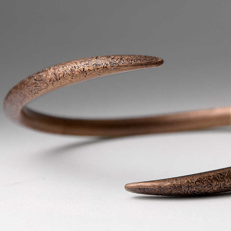 hoop gift Cuff Bangle Copper Bracelet Jewelry Rustic Hand Forged