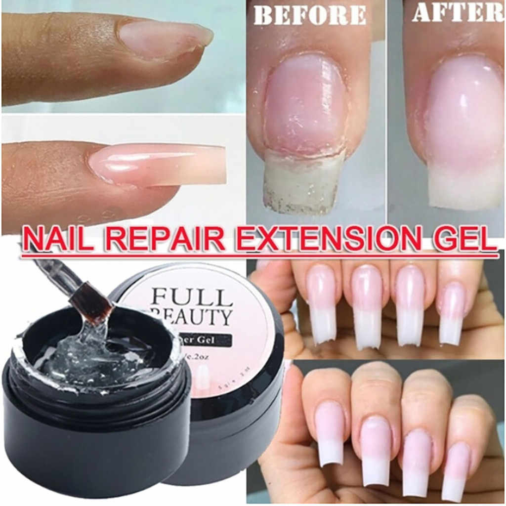 5ml Fiber Uv Gel Polish Glasvezel Extension Building Uv Gel Varnish Reparatie Gebroken Nagels Losweken Uv Gel Verlengen nail Tips # yh