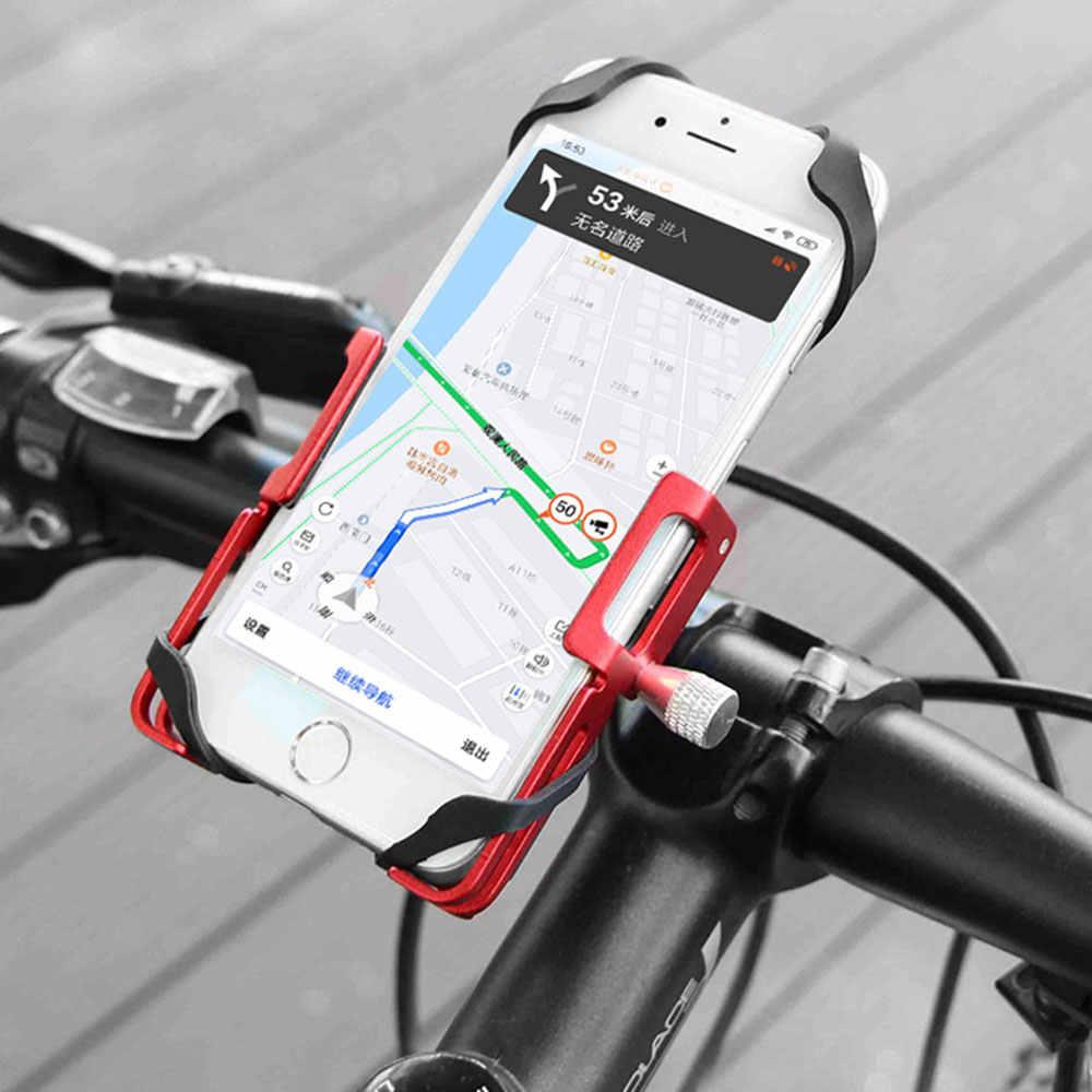 Велосипедный телефонный держатель GUB P10 P20, Алюминиевая Подставка для телефона 3,5-7,5 дюймов, крепление для скутера, мотоцикла, зажимы на руль, P30