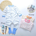 baby clothes Toddler 100%cotton long sleeve zipper one-piece clothes boys and girls Home clothes multi-function Children pajamas
