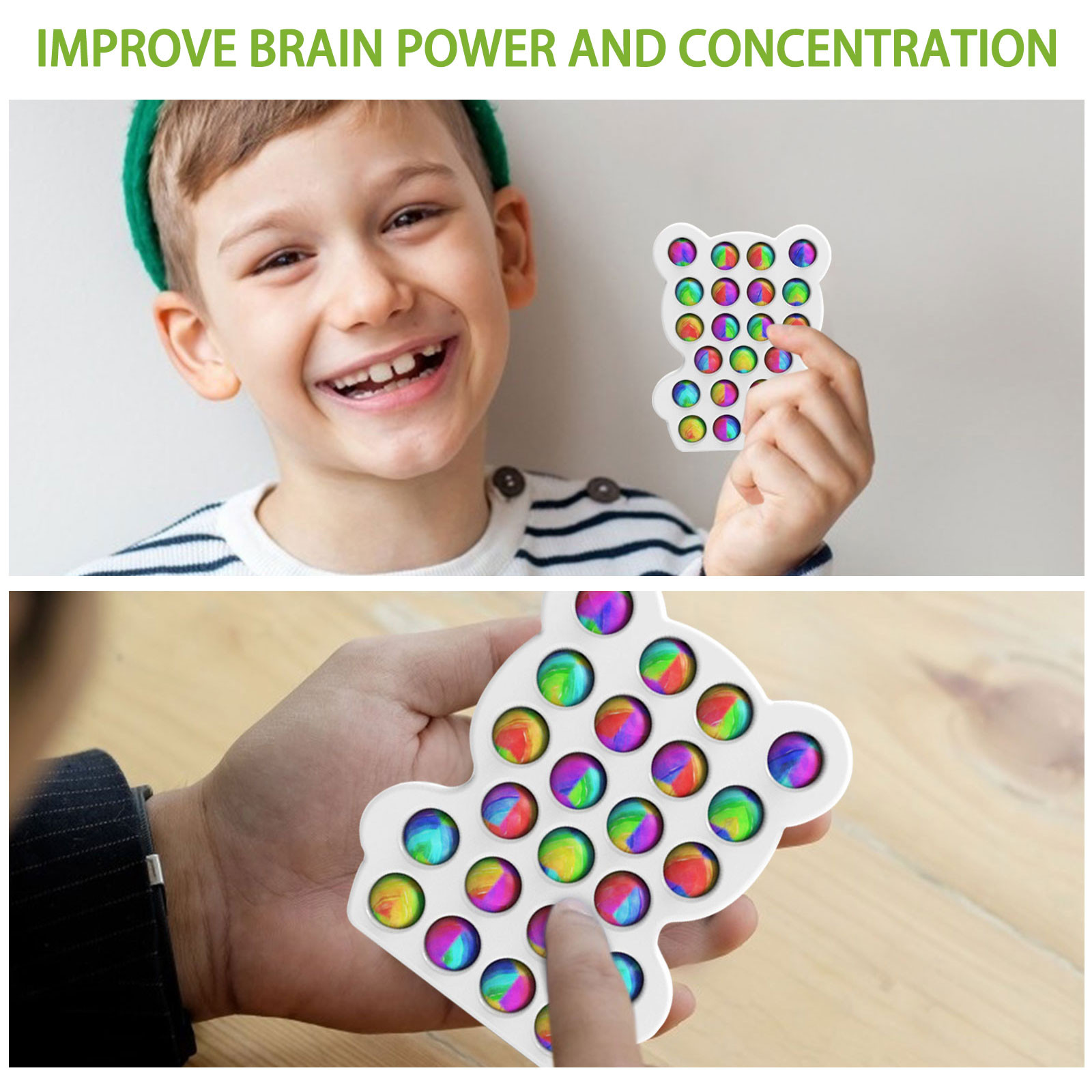 Push Bubble Sensory Fidget Toy Autism Needs Squishy Stress Reliever Toys Adult Kid Funny Anti-stress Reliver Stress img4