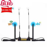 KuWFi 4G LTE router bezprzewodowy wi-fi 300 mb/s Cat 4 szybki przemysł CPE z gniazdo karty sim i 4 szt. Anteny zewnętrzne