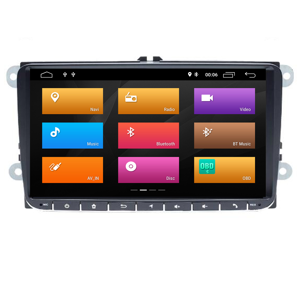 <font><b>AutoRadio</b></font> <font><b>1Din</b></font> Car <font><b>DVD</b></font> Player For VW Skoda Octavia 2 3 Superb Volkswagen Passat b6 Seat Leon 2 Polo T5 AmarokGolf 5 6 Multimedia image