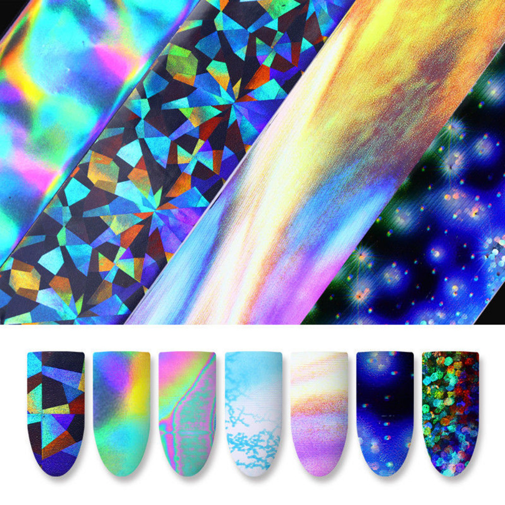 10 Sheets Nail Foil Set Sticker Set Starry Sky Nail Art Transfer Paste Nail Stickers DIY personalized Decal Manicure Decorations