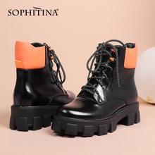 Sophitina модная женская обувь; Удобная обувь на квадратном