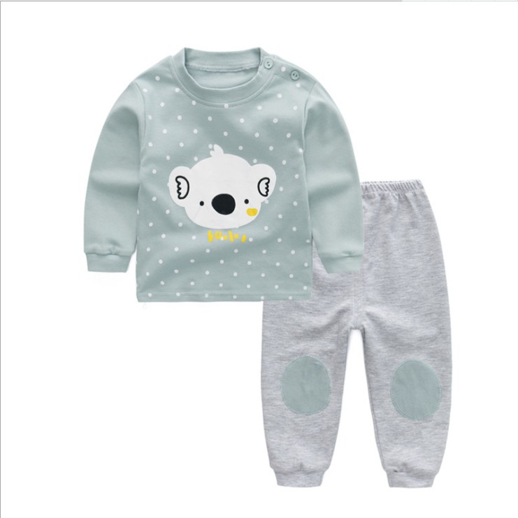 2018 Autumn Clothing New Style Small CHILDREN'S Clothing Men And Women Baby Home Wear Infants Western Style Clothes