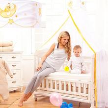 Letnie dziecięce moskitiery dziecięce dekoracja pokoju dziecięcego przeciw komarom oddychający baldachim do łóżka z uchwytem typu podnoszenia tanie tanio CN (pochodzenie) Pojedyncze drzwi Dla uczniów Moskitiera pałacowa
