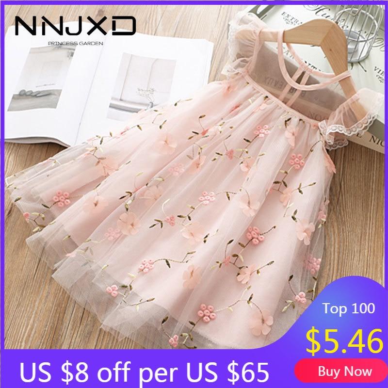 Cute Girls Dress 2020 New Summer Girls Clothes Flower Princess Dress Children Summer Clothes Baby Girls Dress Casual Wear 3 8Y|Dresses|   - AliExpress