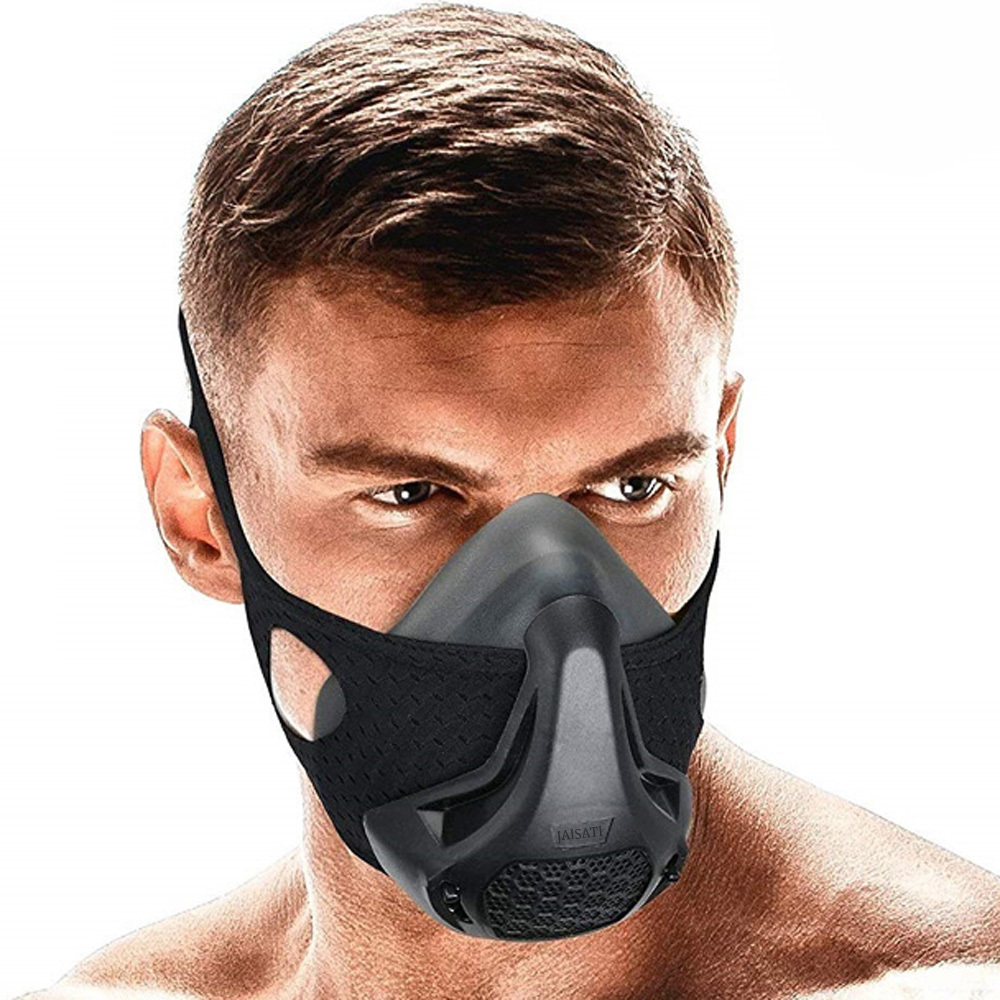 JAISATI Simulate Altitude Sport Mask Air Control Riding/Cycling Mask Fitness Heart Lungs Training Sport Mask Running Mask 2.0