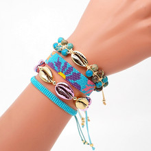 Go2boho MIYUKI Bracelet Women Shell Bracelet Jewelry Summer Boho Sun Flower Pattern Pulseras Mujer 2019 Natural Stone Bileklik