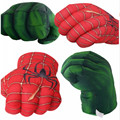 Os vingadores super-herói figura de ação brinquedos homem aranha hulk homem de ferro macio pelúcia luvas de boxe cosplay crianças meninos presente brinquedo