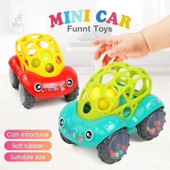 Baby rattles բջջային զվարճալի մանկական խաղալիքներ հետախուզություն բռնելով լնդեր փափուկ ատամների պլաստիկ ձեռքի զանգ