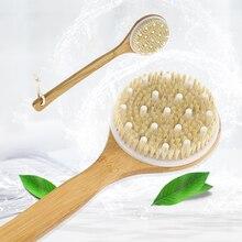 Bathing Brush Dry Skin Body Soft Natural Bristle SPA Brush Without Handle Wooden Bath Shower Brush SPA Exfoliating Body Brush
