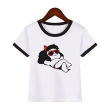 Классные Футболки mafalda с мультяшным принтом для девочек harajuku