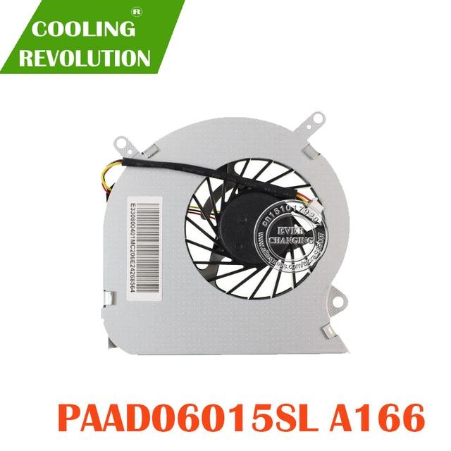 Ventilador de refrigeração cpu compatível com msi ge60 16ga 16gc, série notebook paad06015sl 0.55a 5vdc a166 3pin
