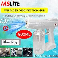 Pistola de pulverizador desinfectante electrostático inalámbrico, batería recargable, PISTOLA DE PULVERIZACIÓN, máquina de niebla fría
