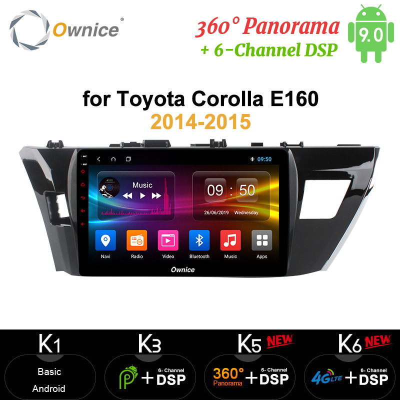 Ownice Android 9.0 <font><b>360</b></font> Panorama DSP carplay Car Radio GPS 4GB+64GB 4G SPDIF <font><b>10.1</b></font>