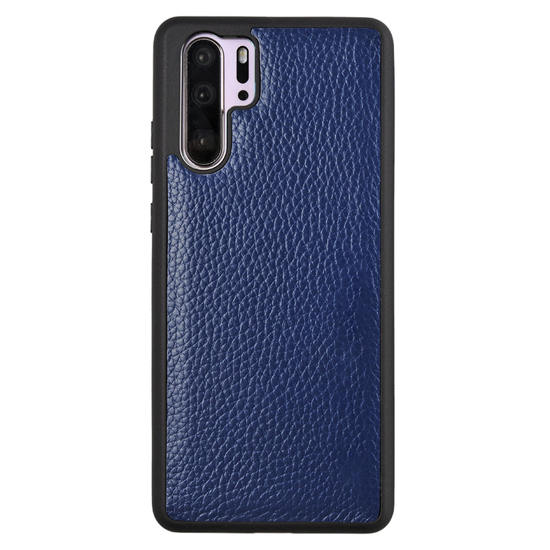 Applicable Huawei P30 Phone Case P320 Pro Genuine Leather Protective Case All Edges Included Shatter-resistant High-End Business