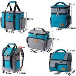 Мужская большая сумка-холодильник на плечо, Женская Термосумка для обеда, переносная сумка для пикника, упаковка для льда, контейнер для хра...