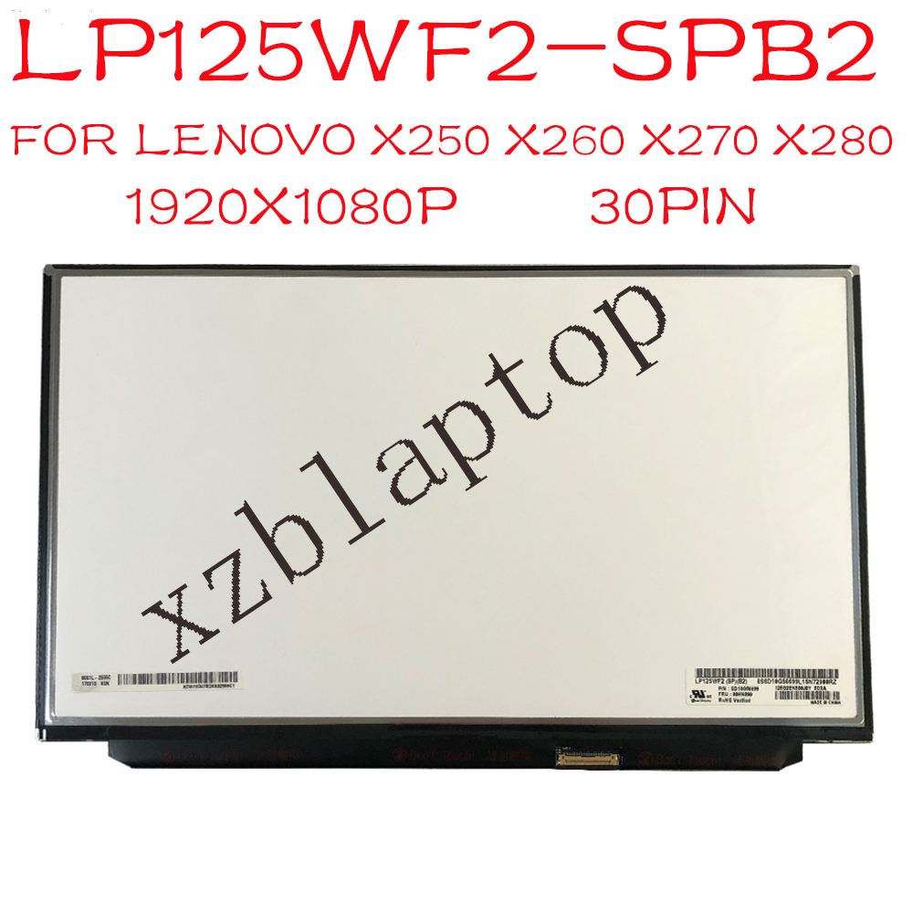 LP125WF2 SPB2 00HN899 00HM745 For Lenovo FRU 12.5 FHD 1920x1080 IPS Display For Lg LP125WF2 SP B2 (SP)(B2) LP125WF2-SPB2