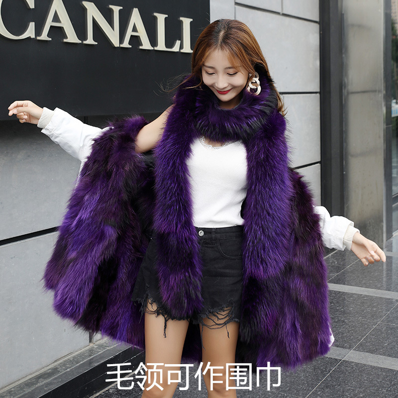 Raccoon Real Fur Coat Female Jacket Winter Jacket Women Natural Warm Fur Jackets For Women Korean Long Jacket MY4151 S