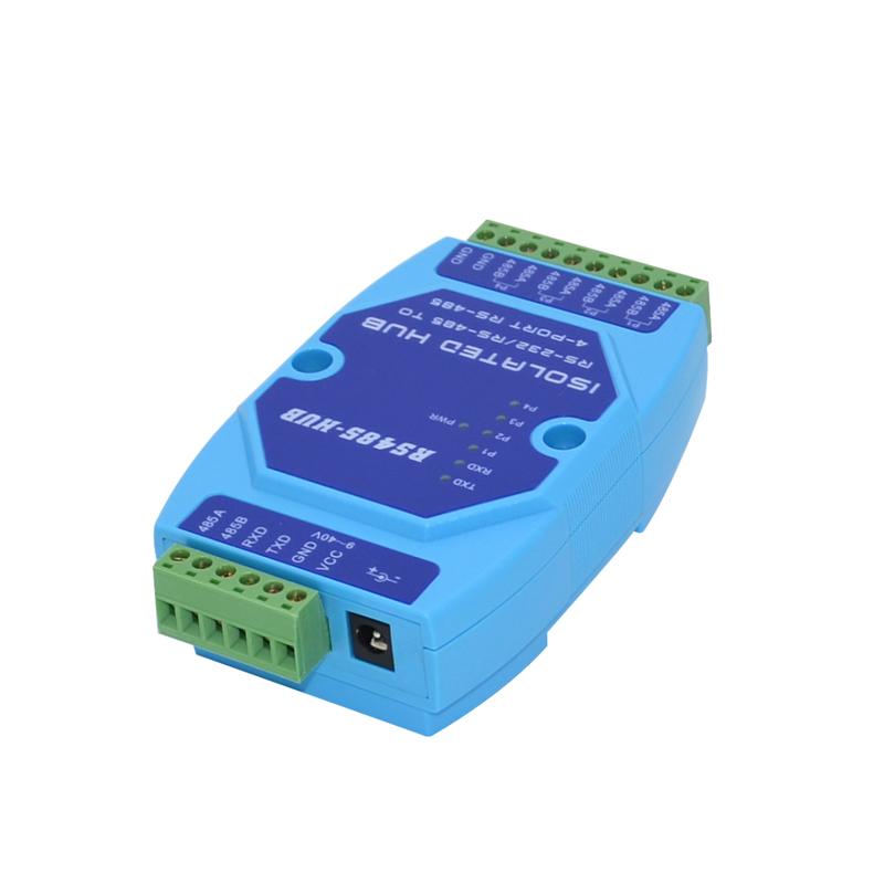 RS485 Hub 4-channel Sharing Device 485 Splitter 485hub 1 In 4 Out Industrial-grade Optical Isolation