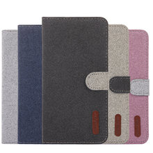 Wallet Flip Leather Case For Samsung Galaxy S8 S9 S10E S10 Plus J2 Core J4 J6 A8 A6 A7 2018 J330 J510 Canvas Fabric Phone Shell(China)
