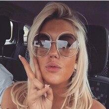 2018 Round Big Size Oversized lens Vintage Sunglasses Women