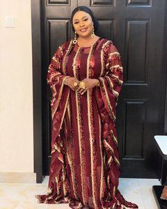 Image 4 - 2020 סופר גודל חדש אפריקאי נשים של פאייטים דאשיקי אופנה רופף רקמת ארוך שמלת אפריקאי שמלת לנשים אפריקאי בגדים